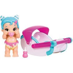 """Интерактивная кукла Moose """"Bizzy Bubs"""" Кудряшка с переноской"""