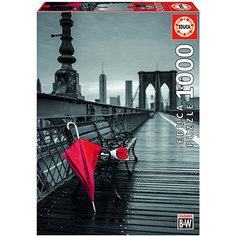 """Пазл Educa 1000 деталей """"Красный зонт. Бруклинский мост"""""""