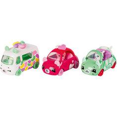 "Игровой набор Moose ""Cutie Car"" Три машинки с мини-фигурками Shopkins, Candy Combo"