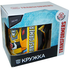"""Кружка Transformers """"Роботы под прикрытием"""" в подарочной упаковке, 240 мл. МФК профит"""