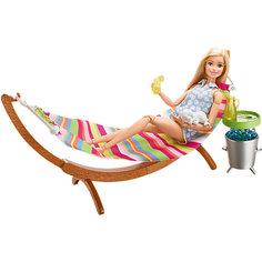 """Набор мебели """"Гамак и стол"""" из серии """"Отдых на природе"""", Barbie Mattel"""