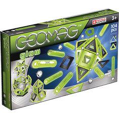 """Магнитный конструктор Geomag  """"Glow"""",  104 детали"""