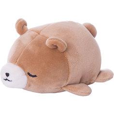 Мягкая игрушка ABtoys Медвежонок коричневый, 13 см