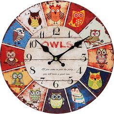 """Часы настенные """"День совы"""", диаметр 34 см Белоснежка"""