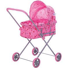 Коляска для кукол Buggy Boom , светло-розовый с сердечками