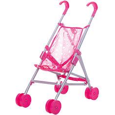 Коляска-трость для кукол Buggy Boom , розовый с сердечками