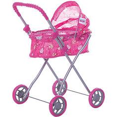 Коляска для кукол Buggy Boom , розовый с мишками