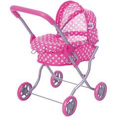 Коляска для кукол Buggy Boom , розовый в звездочку
