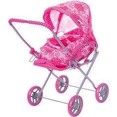 Коляска - трансформер Buggy Boom , розовый с цветами