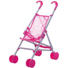 Коляска-трость для кукол Buggy Boom , розовый с мишками