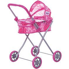Коляска для кукол  Buggy Boom , розовый с цветами