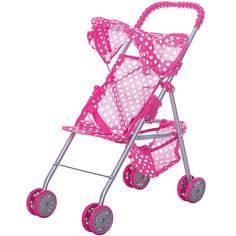 Коляска для кукол с козырьком Buggy Boom , розовый в горошек