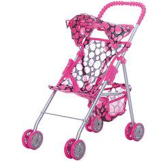 Коляска для кукол с козырьком Buggy Boom , В розовый горошек