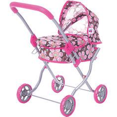 Коляска для кукол Buggy Boom , коричнево-розовый с цветочками