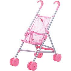 Коляска-трость для кукол Buggy Boom , светло-розовый с сердечками