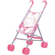 Коляска-трость для кукол Buggy Boom , светло-розовый с мишками