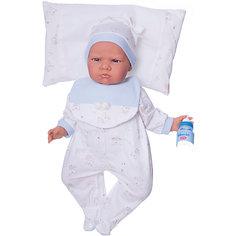 """Кукла """"Бертина"""" в голубом, озвученная, 52 см, Munecas Antonio Juan"""