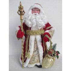 Новогодняя фигурка Дед Мороз в красном костюме из пластика и ткани Magic Time