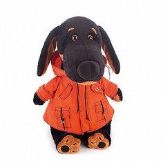 Мягкая игрушка Budi Basa Собака Ваксон в оранжевой ветровке, 25см