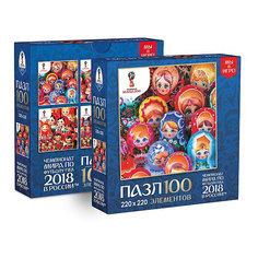 """Пазл Origami FIFA-2018 """"Матрёшки"""" Лучшие, 100 элементов"""