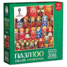"Пазл Origami FIFA-2018 ""Матрёшки"" Деревянные куклы, 100 элементов"