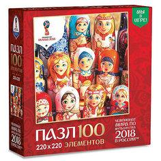 """Пазл Origami FIFA-2018 """"Матрёшки"""" Расписные куклы, 100 элементов"""