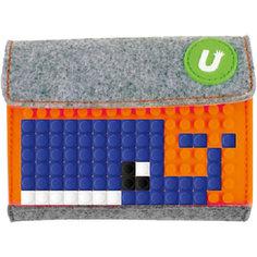 Пиксельный кошелек Upixel «Pixel felt small wallet», светло оранжевый