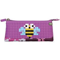 Пенал-косметичка Upixel, фиолетовый хаки