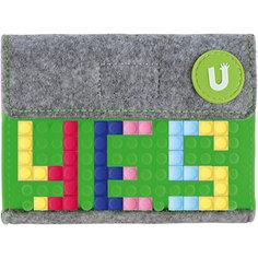 Пиксельный кошелек Upixel «Pixel felt small wallet», зеленый