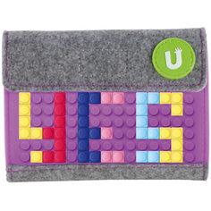 Пиксельный кошелек Upixel «Pixel felt small wallet», фиолетовый