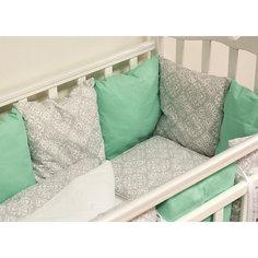 Детское постельное белье 3 предмета By Twinz, Дамаск, мятный