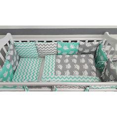 Детское постельное белье 3 предмета By Twinz, Совы, мятный