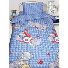 Детское постельное белье 1,5 сп. MTY Ded на голубом Mona Liza