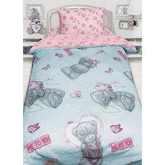 Детское постельное белье 1,5 сп. Teddy с подарком на бирюзовом Mona Liza