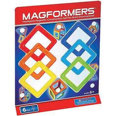 Магнитный конструктор Квадраты, 6 деталей, MAGFORMERS