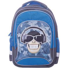 Рюкзак 4ALL Линия School, серо-синий