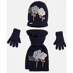 Комплект:шапка, шарф и перчатки для девочки Mayoral