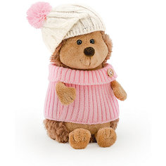 """Мягкая игрушка Orange """"Life"""" Ежинка Колючка в шапке с розовым помпоном, 26 см"""