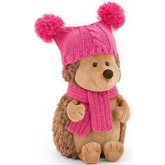 """Мягкая игрушка Orange """"Life"""" Ежинка Колючка в шапке с двумя помпонами, 20 см"""