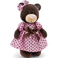 """Мягкая игрушка Orange """"Choco&Milk"""" Медвежонок Milk стоячая в летнем платье, 25 см"""