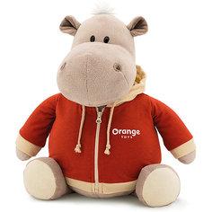 """Мягкая игрушка Orange """"Toys"""" Бегемот в оранжевой толстовке, 30 см"""