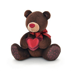 "Мягкая игрушка Orange ""Choco&Milk"" Медвежонок Choco с сердцем, 30 см"