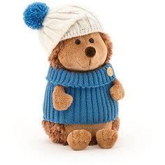 """Мягкая игрушка Orange """"Life"""" Ёжик Колюнчик в шапке с голубым помпоном, 26 см"""