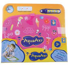 Коврик для рисования, розовый, 1toy AquaArt