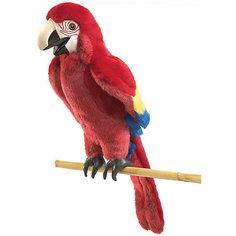 Мягкая игрушка на руку Folkmanis Красный попугай, 63 см