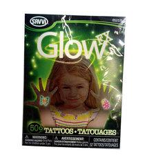 Тату временные светящиеся в темноте для девочек (50 шт) Savvi