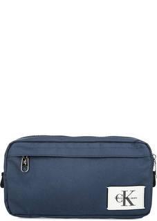 Синяя поясная сумка на молнии Calvin Klein Jeans