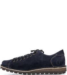 Синие замшевые ботинки FLY London
