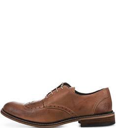 Кожаные туфли с брогированием FLY London