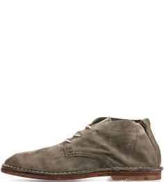 Замшевые ботинки цвета хаки A.S.98